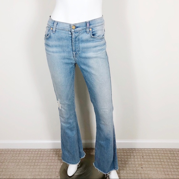 7 For All Mankind Denim - T1-11: 7 for all mankind distressed  jeans size 28